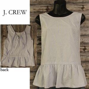 Tie Back Peplum Top by J. Crew